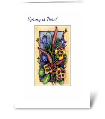 Spring Time Flowers greeting card