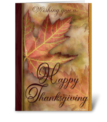 A Thanksgiving Wish Greeting Card greeting card