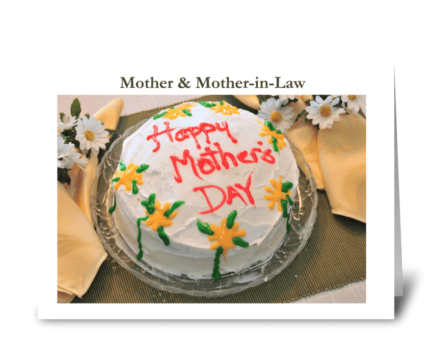 Mother and Mother-in-law greeting card
