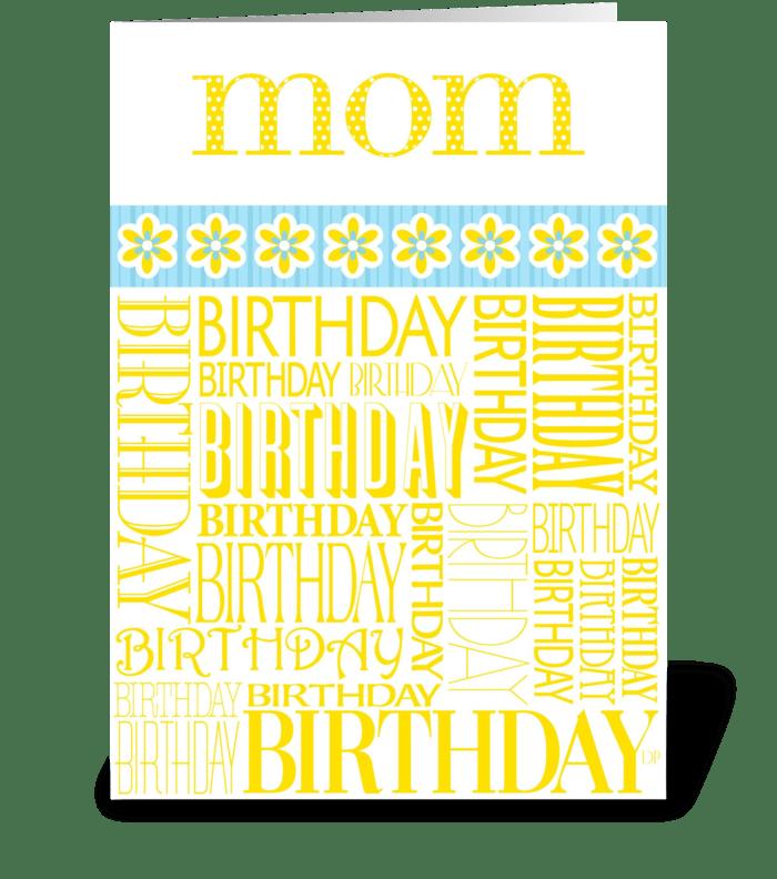 Birthday Mom greeting card