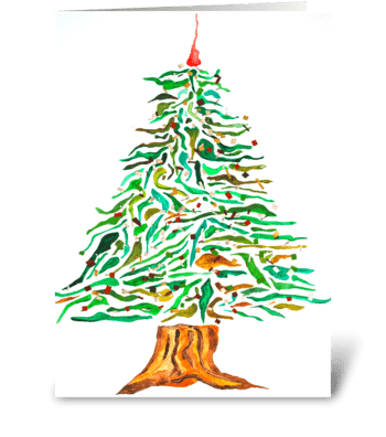 Artsy Holiday Tree greeting card