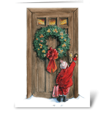 Christmas doorbell greeting card