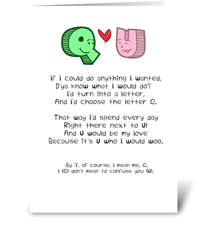 Q+U greeting card