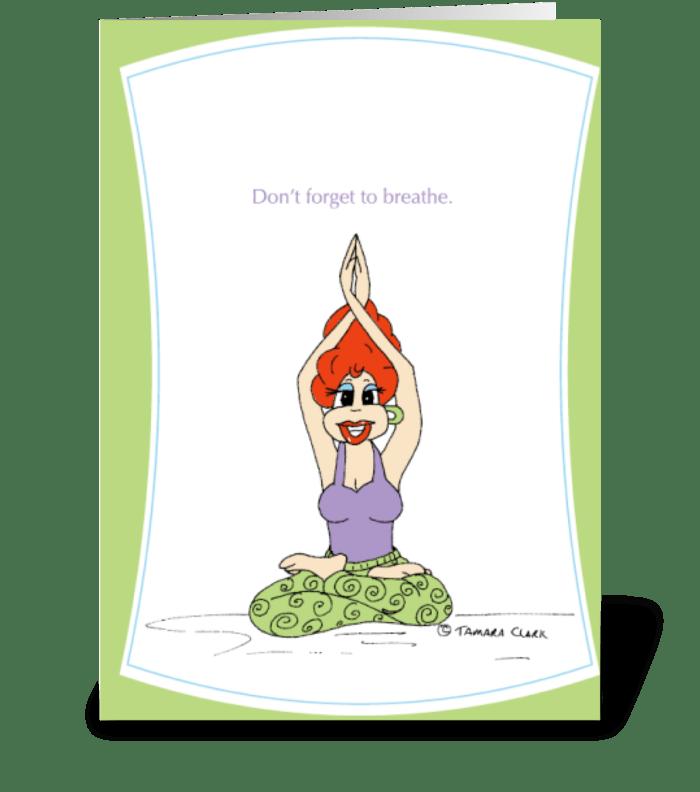 Yoga Yolanda greeting card