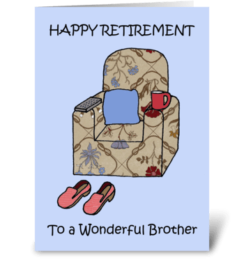 Brother Happy Retirement. greeting card