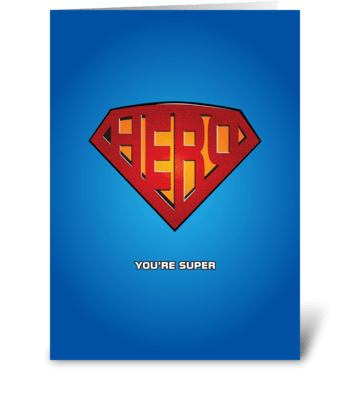 You're Super! greeting card