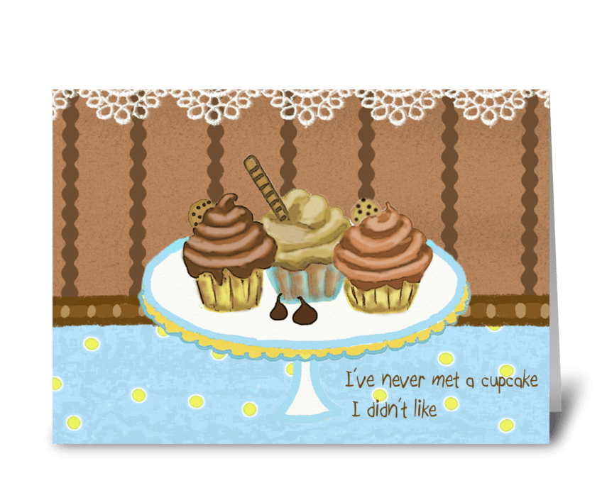 Cupcakes Card greeting card