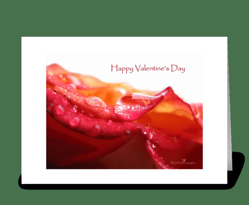 Rose drops greeting card