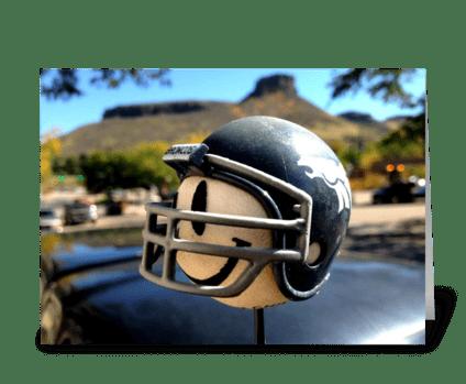 Denver Broncos Antenna Ball greeting card