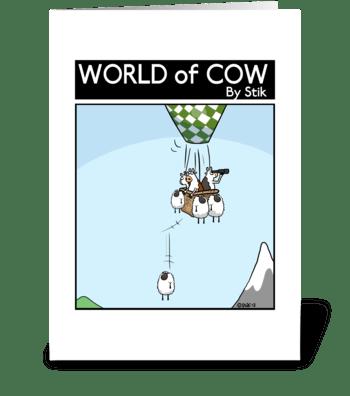 Sheep Ballast greeting card