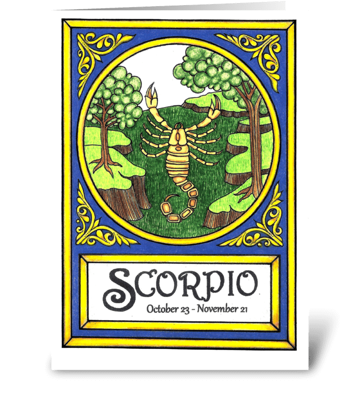 SCORPIO greeting card