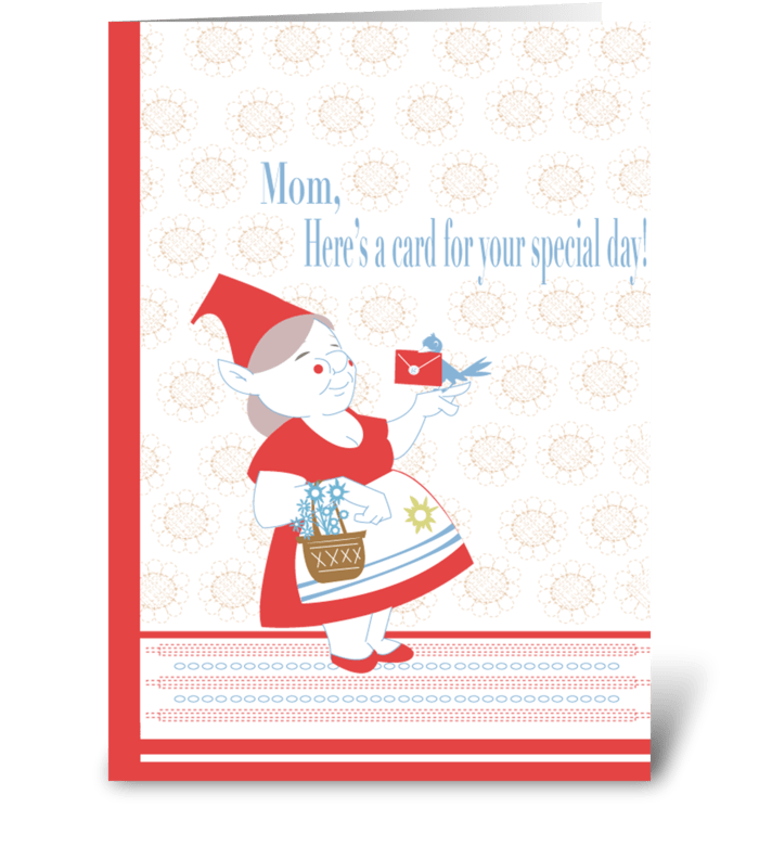 Mothers Day Gnome greeting card