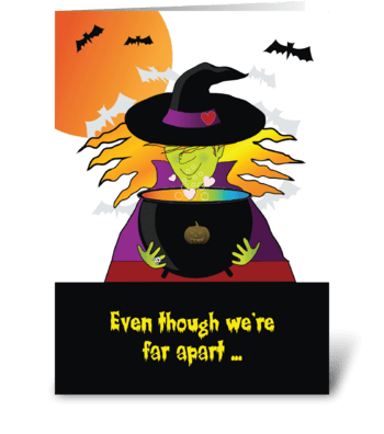 From Afar, Halloween Witches Brew greeting card