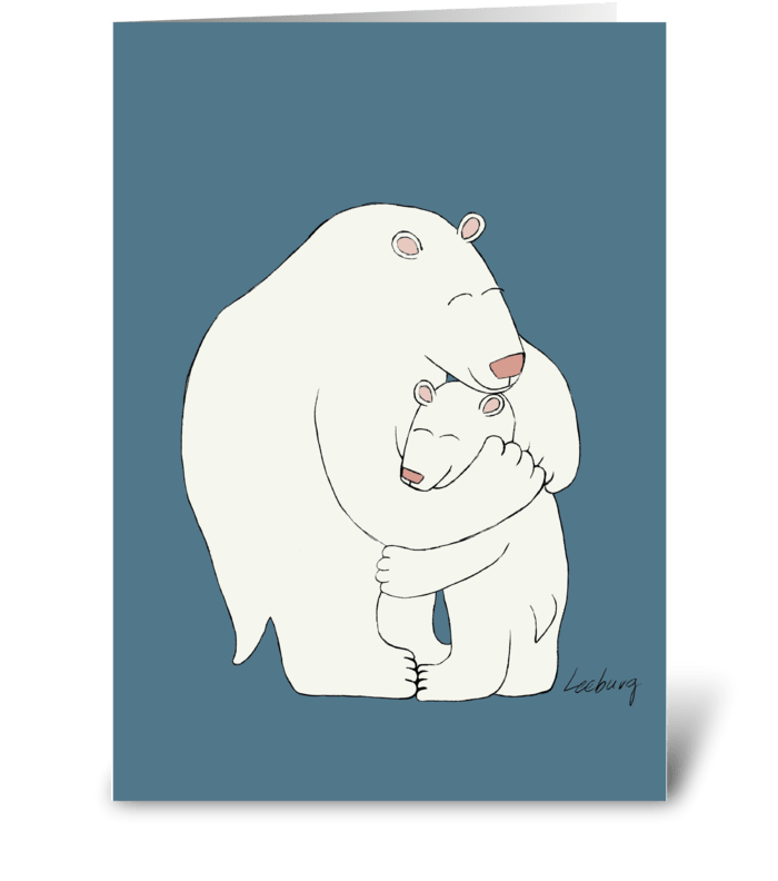 Polar Bear Father's Day greeting card