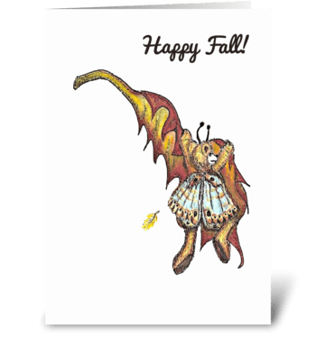 """Floating Pixie"" greeting card"