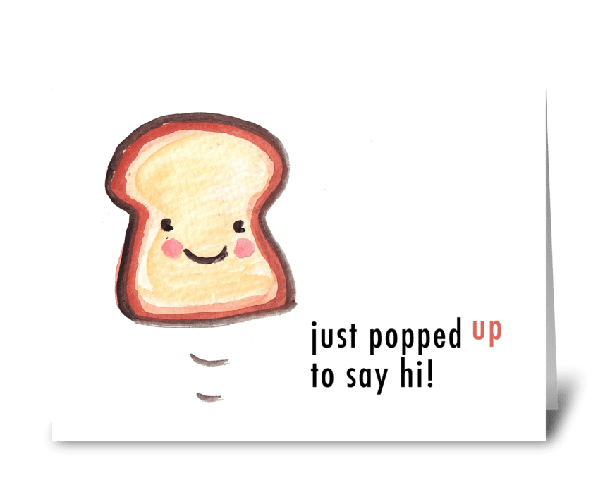 Toasty hello send this greeting card designed by lady lucas card toasty hello greeting card m4hsunfo