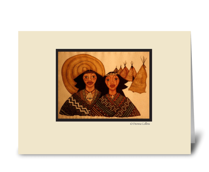 Indian watercolor note card greeting card
