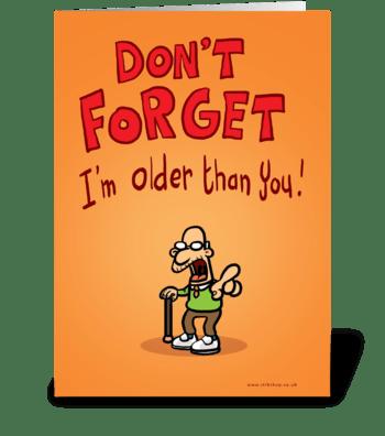Grumpy Birthday greeting card