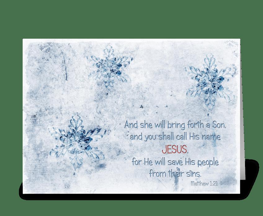 Call His name Jesus greeting card