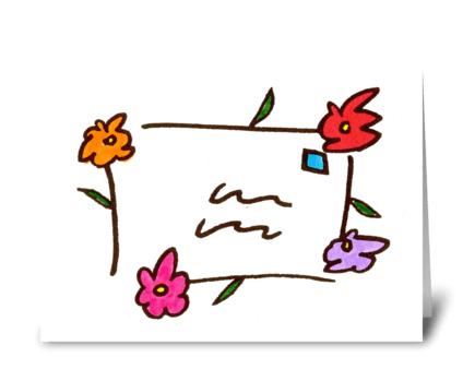 flower letter greeting card