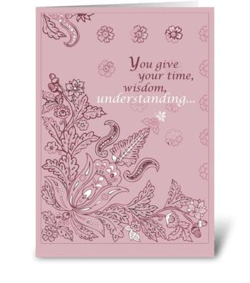 Pink Paisley Mother's Day greeting card