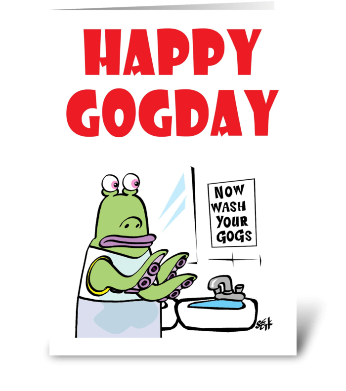 Happy GoGDay greeting card