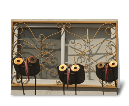 Metal Birds greeting card