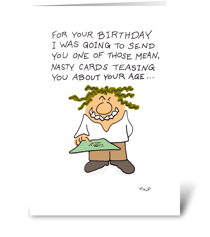 Nasty Card greeting card