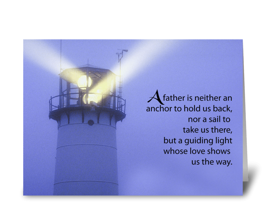 Father's Day Guiding Light Lighthouse greeting card