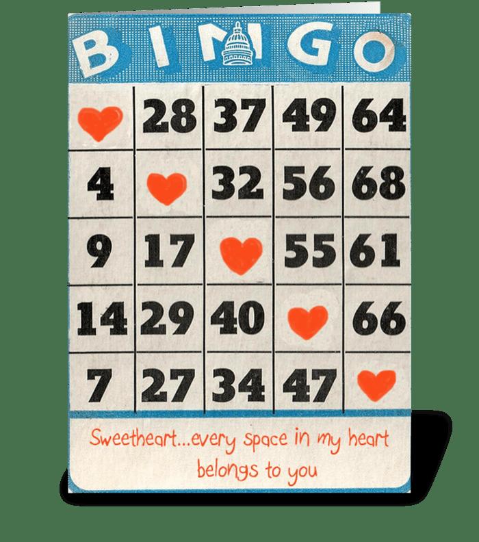 Bingo Love greeting card