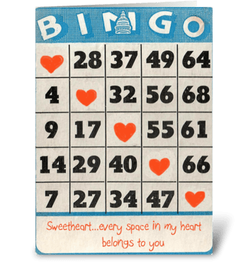 Bingo Love greeting card