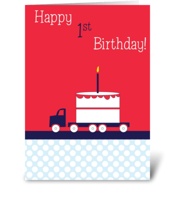 Birthday Truck greeting card