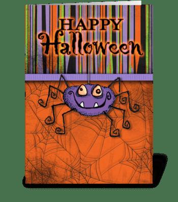 Happy Halloween Spider greeting card
