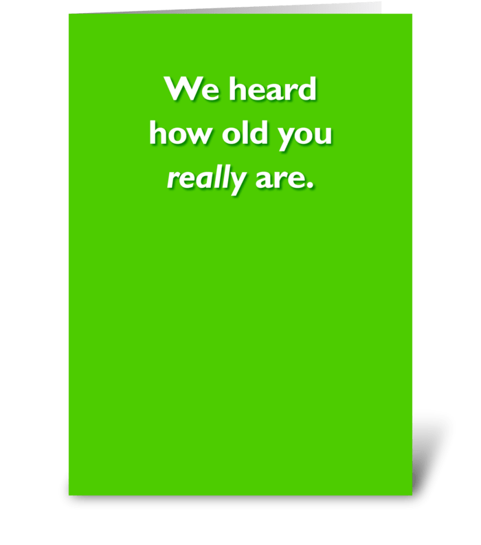Birthday for an older person greeting card