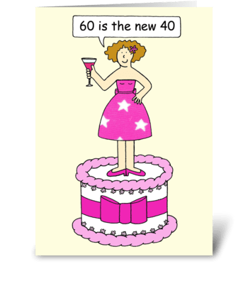 60th Birthday card for a lady greeting card