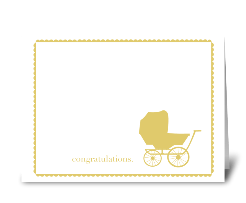 Baby Carriage Congratulations greeting card