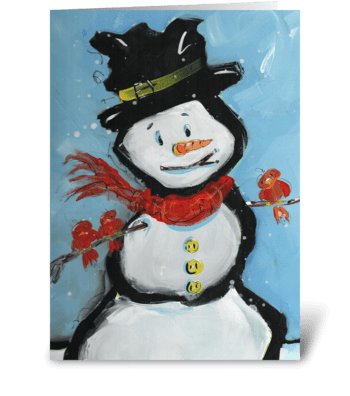 Snowman Friends greeting card