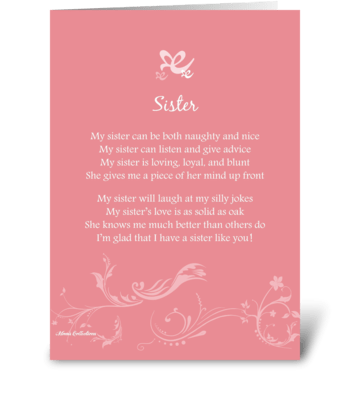 Poetry Sister greeting card
