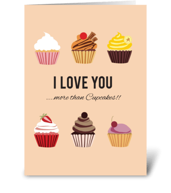 More than Cupcakes greeting card