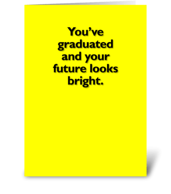 Graduation card greeting card
