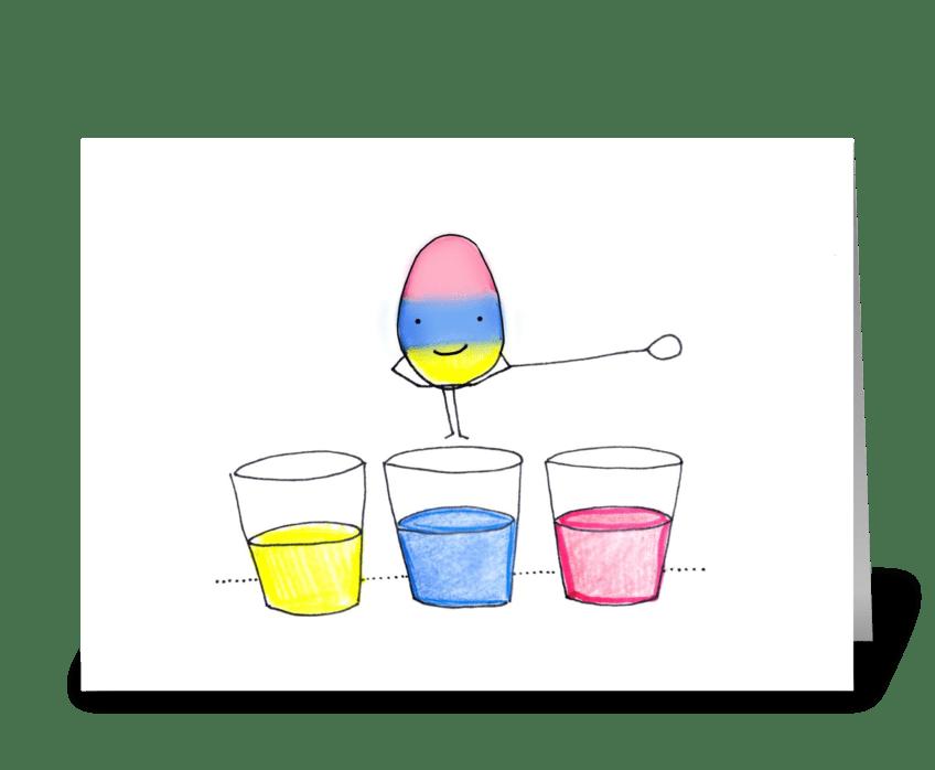 Easter Egg Dip greeting card