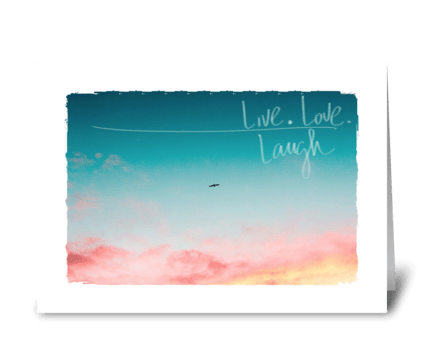 live love life greeting card