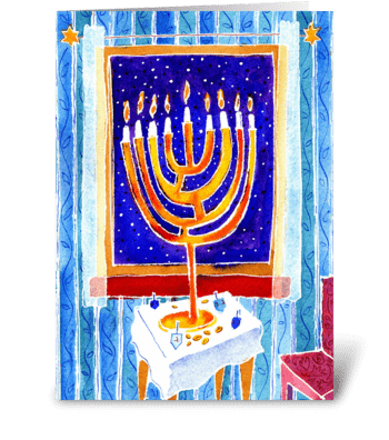 Hanukkah 1 greeting card