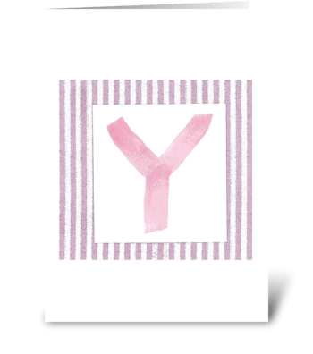 Y - Baby Girl greeting card
