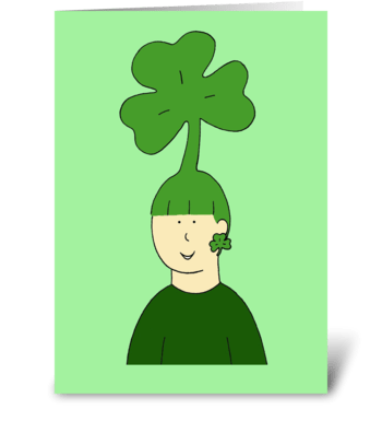 St. Patrick's Day Hair Fun. greeting card