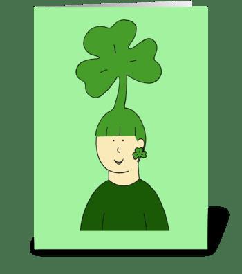 St. Patrick's Day Hair Fun. greeting card