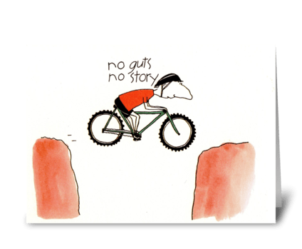 no guts  greeting card