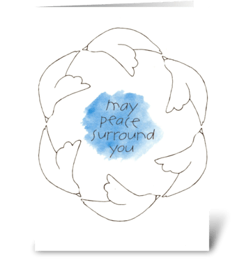 may peace surround you greeting card