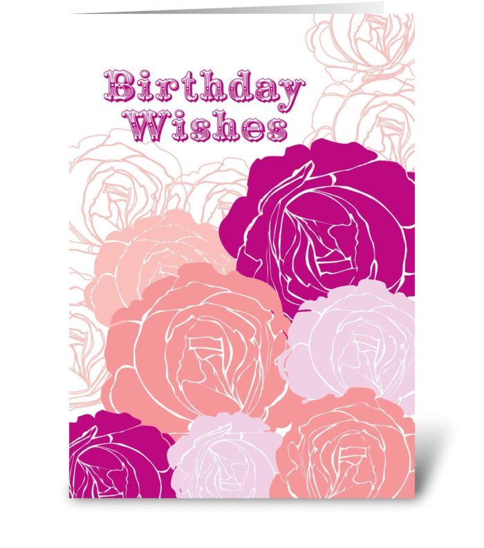 Rose Birthday Wishes  greeting card