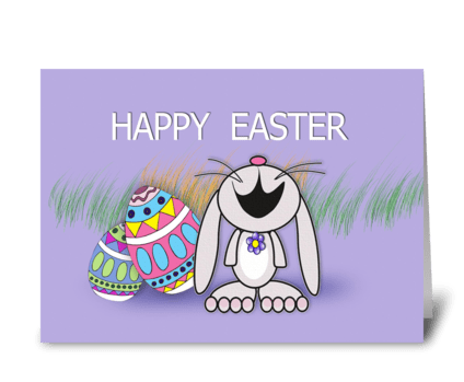 Easter Bunny, Happy Easter greeting card